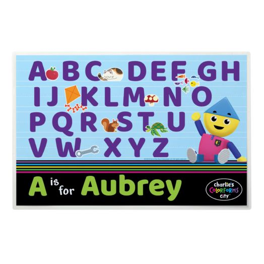 Charlie's Colorforms Personalized Alphabet Placemat