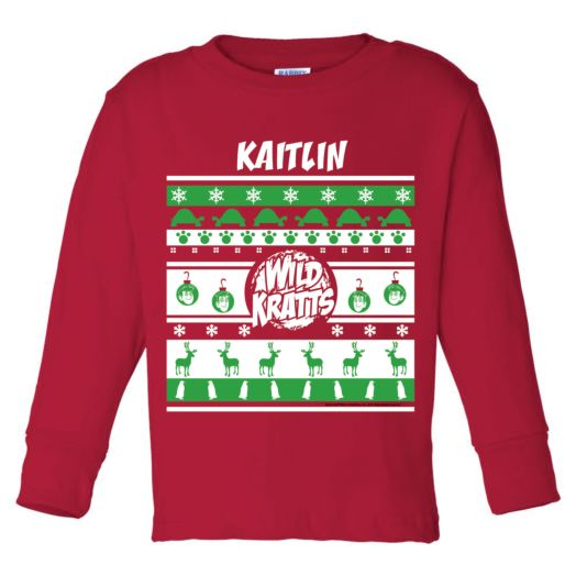 Wild Kratts Personalized Youth Holiday Long Sleeve T-shirt