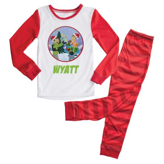 Wild Kratts Holiday Personalized Pajamas