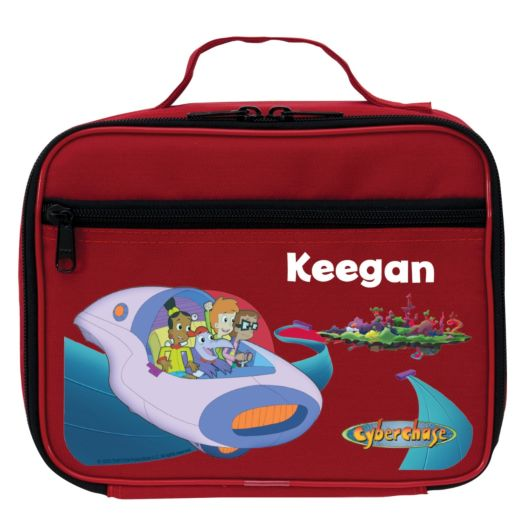 Cyberchase Personalized Red Lunch Bag