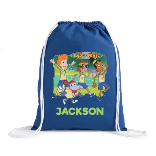 Cyberchase Personalized Blue Drawstring Bag