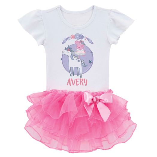Peppa Pig Ballet Unicorn Personalized Tutu Tee