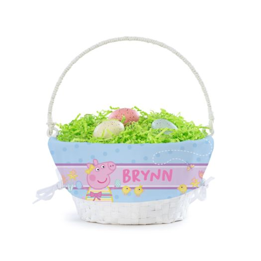 Peppa Pig Flowers and Chicks Personalized Easter Basket