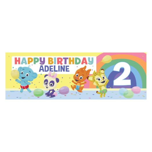 Word Party Personalized Birthday Banner