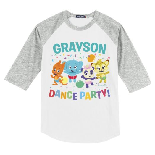 Word Party Dance Party Personalized Gray Youth Sports Jersey