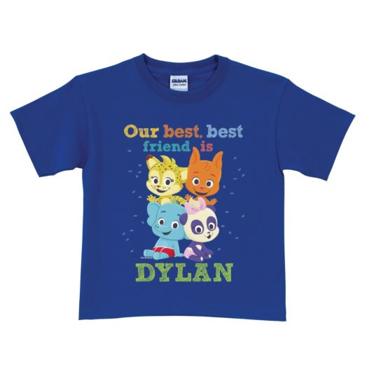 Word Party Best Friend Personalized Royal Blue T-Shirt