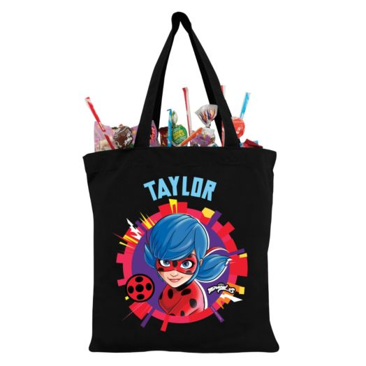 Miraculous Ladybug In Action Personalized Back Tote Bag