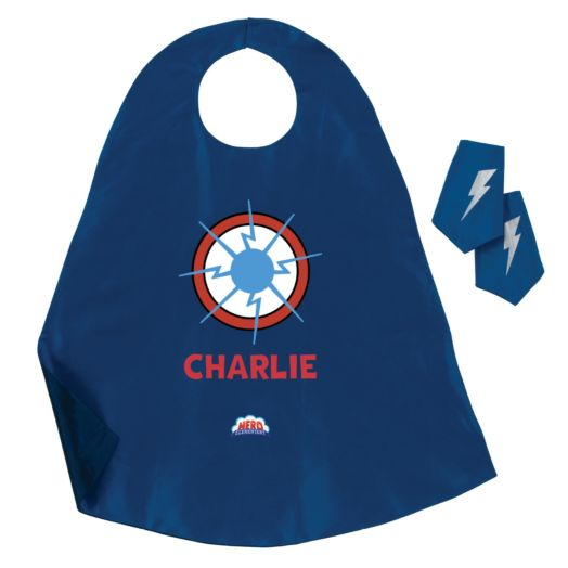 Hero Elementary Personalized Blue Cape and Cuffs