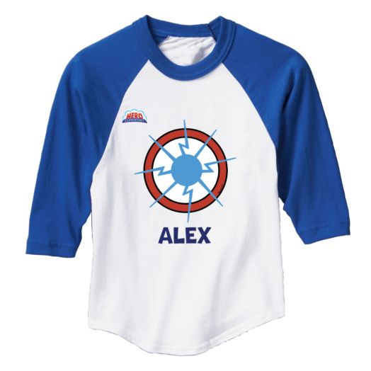 Hero Elementary Personalized Blue Sports Jersey