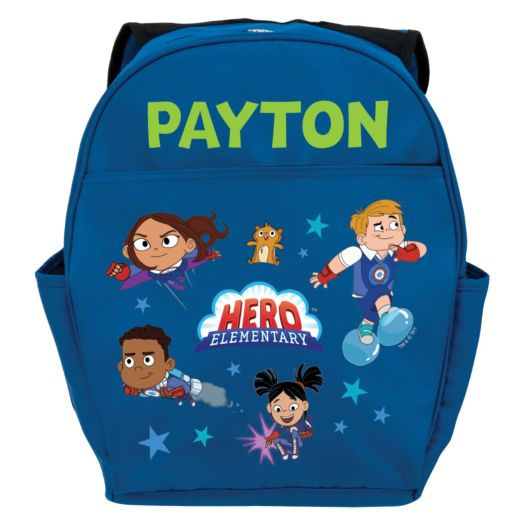 Hero Elementary Personalized Youth Blue Backpack
