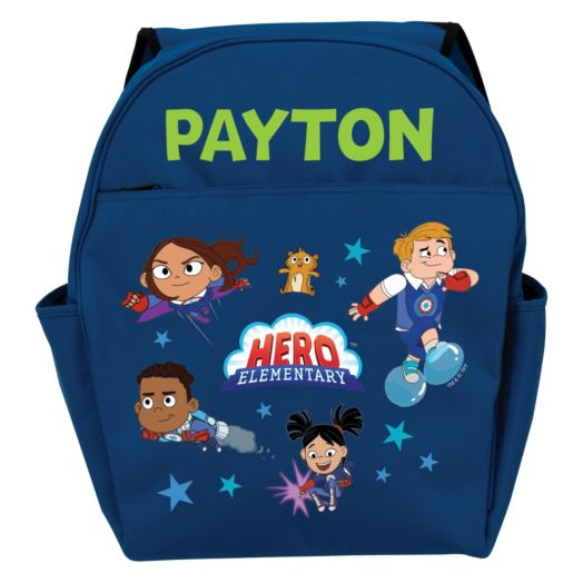 Hero Elementary Personalized Toddler Blue Backpack