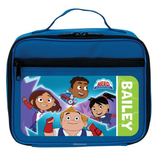 Hero Elementary Personalized Blue Lunch Bag