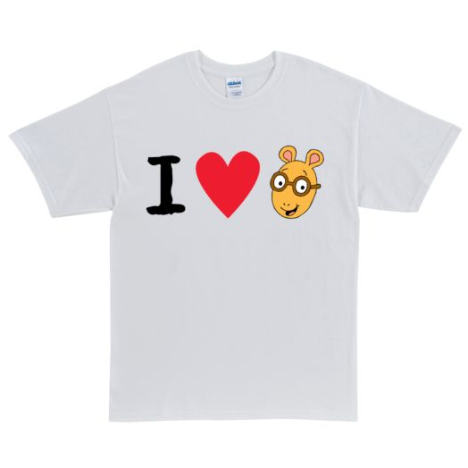 Arthur I Love Arthur White Adult T-Shirt