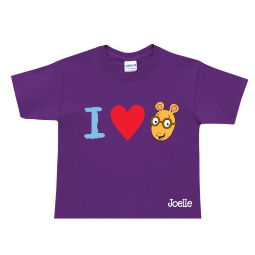 Arthur I Love Arthur Purple T-Shirt