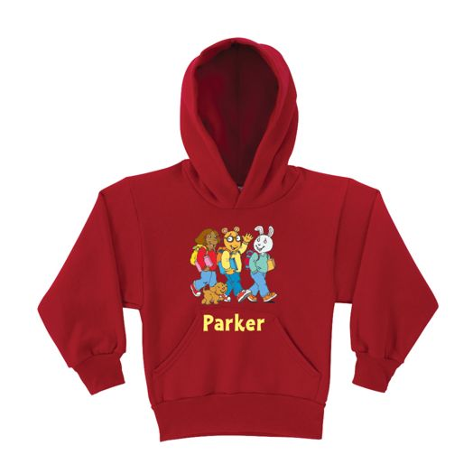Arthur & Friends Walk to School Red Youth Hoodie