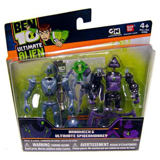 Ben 10 Alien Creation Chamber Figure Set: Ultimate Spidermonkey and Nanomech