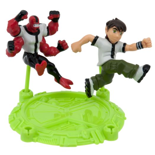 "Ben 10 Four Arms & Young Ben 2-1/2"" Action Hero Pack"