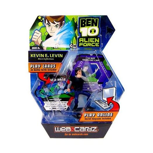 Ben 10 Web Cardz InterActive Web Game with Kevin Levin Figure
