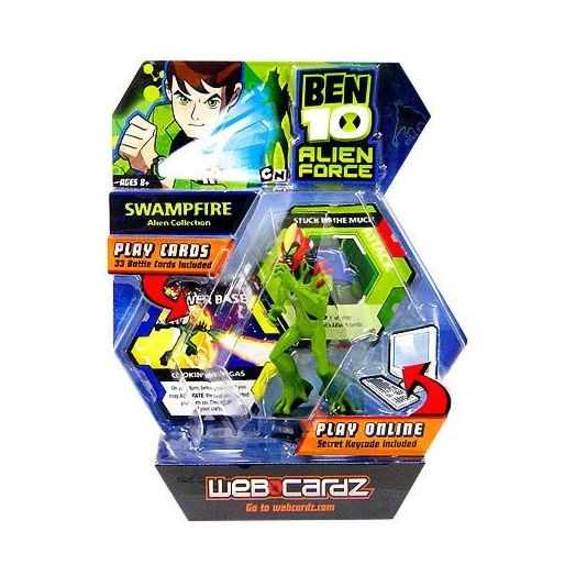 Ben 10 Web Cardz Game Starter Set with Swampfire Figure