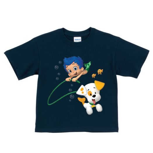 Bubble Guppies Bubble Puppy and Gil Navy T-Shirt