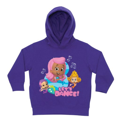 Bubble Guppies Girls Let's Dance Purple Toddler Hoodie