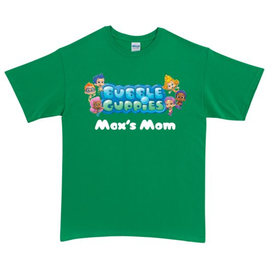 Bubble Guppies Logo Green Adult T-Shirt