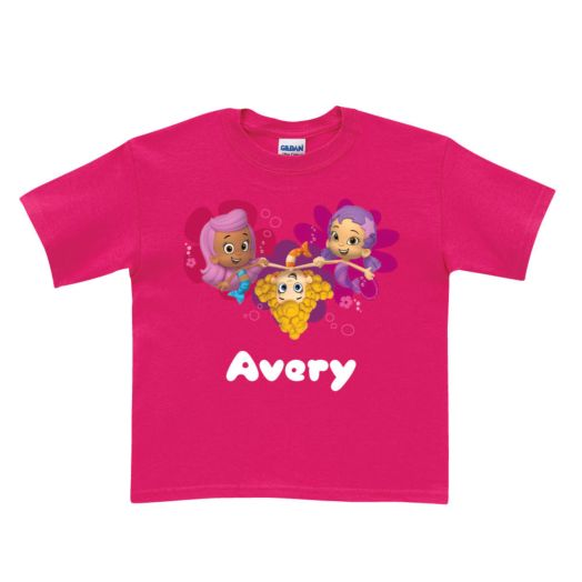Bubble Guppies Girl Trio Hot Pink T-Shirt