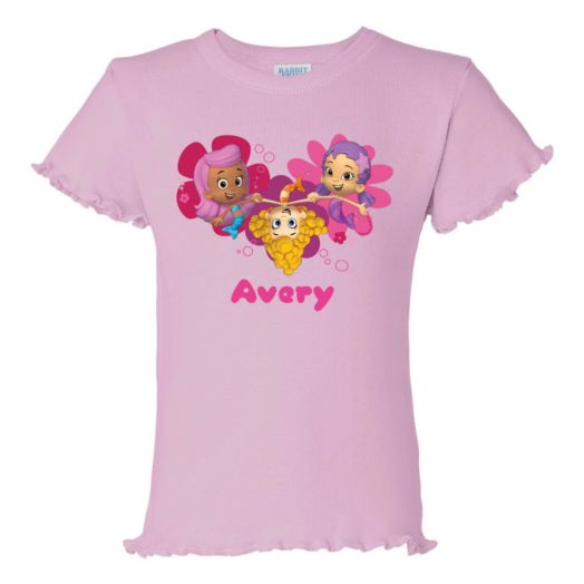 Bubble Guppies Girl Trio Pink Ruffle T-Shirt