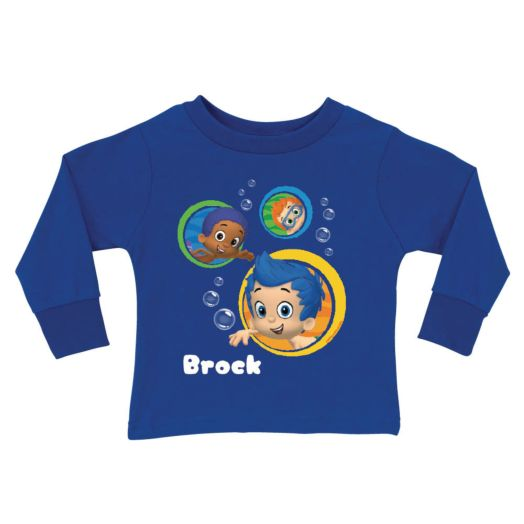 Bubble Guppies Guppy Boys Blue Long Sleeve Tee
