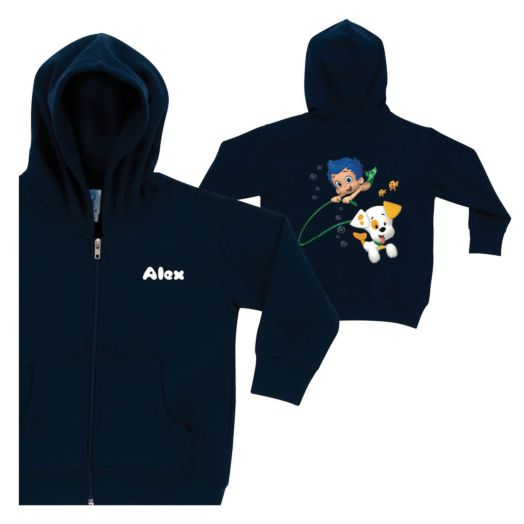 Bubble Guppies Gil and Bubble Puppy Navy Zip-Up Hoodie