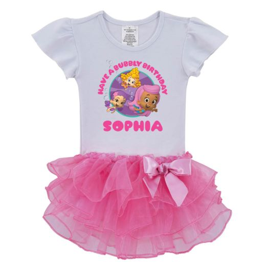 Bubble Guppies Girls Birthday Pink Tutu Shirt