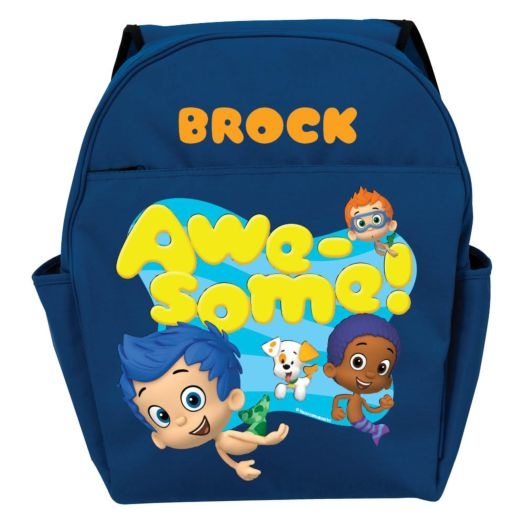 Bubble Guppies Guppy Boys Personalized Blue Toddler Backpack