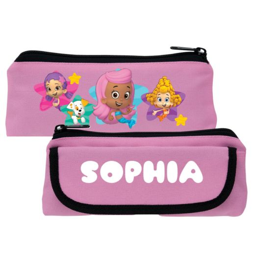 Bubble Guppies Girls and Bubble Puppy Pink Pencil Case