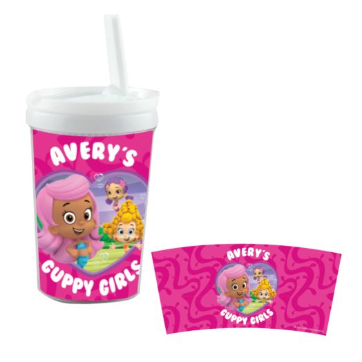 Bubble Guppies Guppy Girls White Sippy Cup