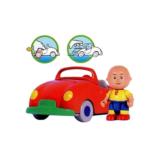 Caillou with Red Car Playset