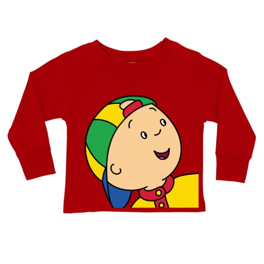 Caillou Close-Up Red Long Sleeve Tee
