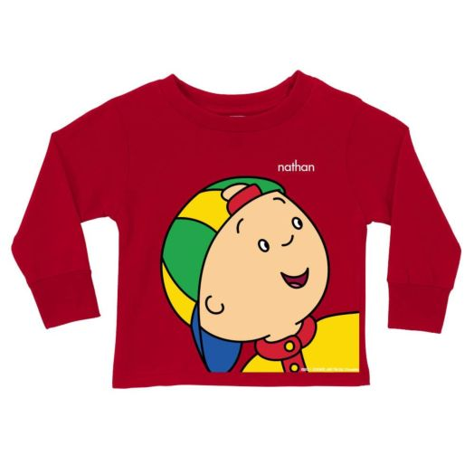 Caillou  Close-Up  Long Red Sleeve Tee