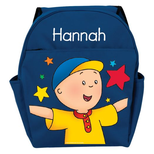 Caillou Stars Blue Toddler Backpack