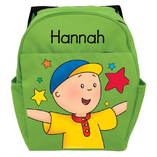 Caillou Stars Green Toddler Backpack
