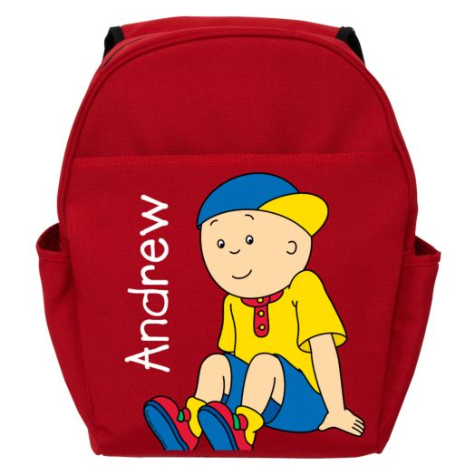 Caillou Let's Play Red Toddler Backpack