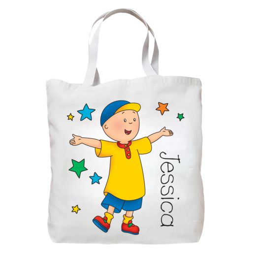 Caillou and Stars Tote Bag