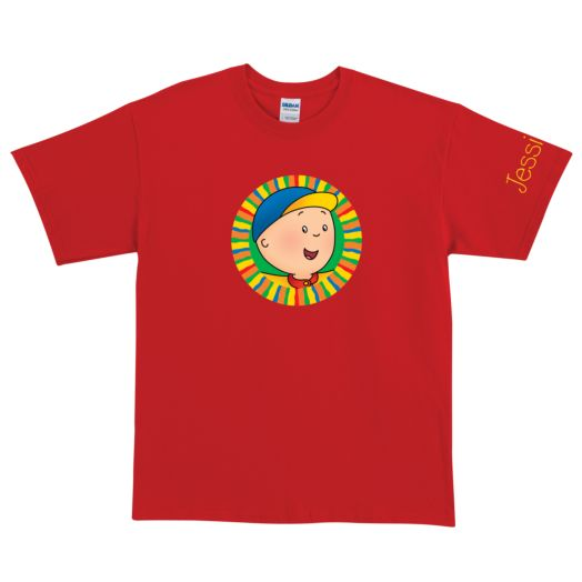 Caillou Hello Caillou Red Adult T-Shirt