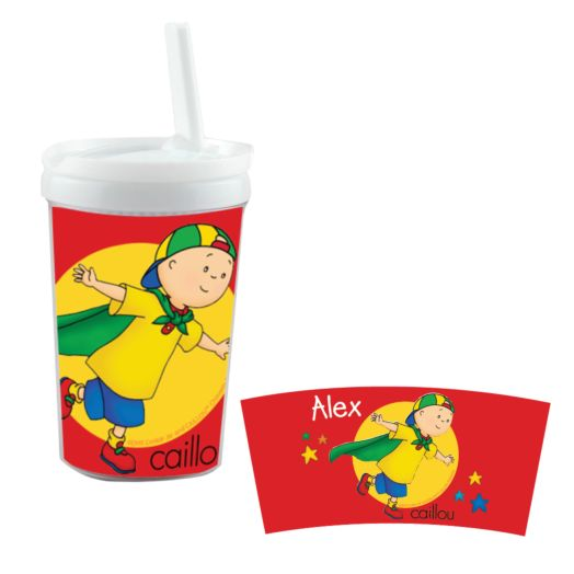 Caillou Cape White Sippy Cup