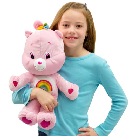 Care Bears Large 17 In Cheer Bear PInk Plush Toy
