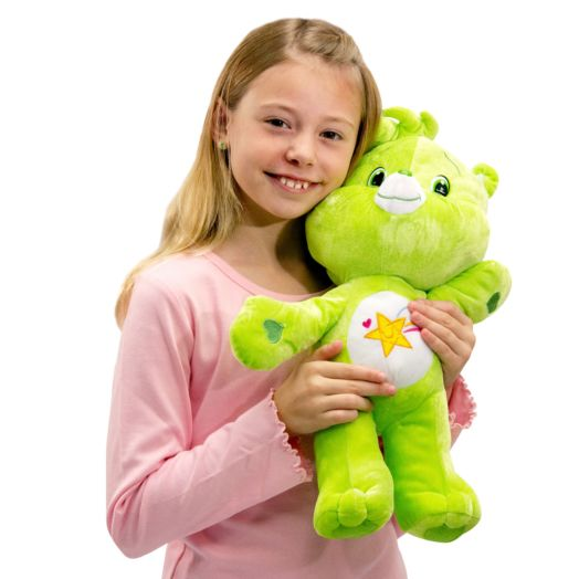 Care Bears Large 17  In Oopsy Bear Green Plush Toy