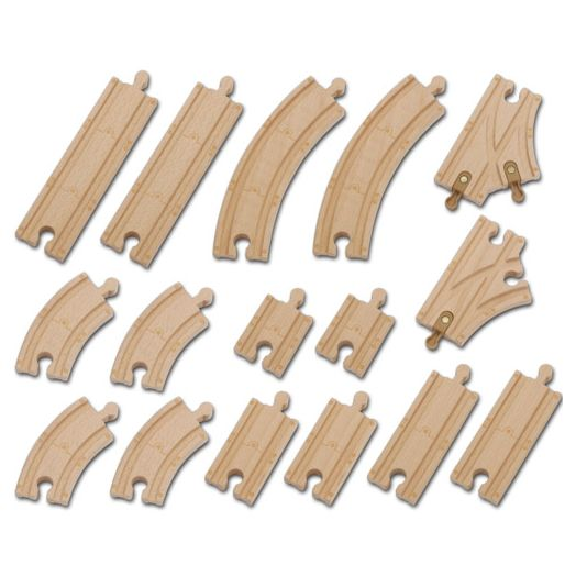 Chuggington Trains Wooden Railway Vehicles Wood Track Pack
