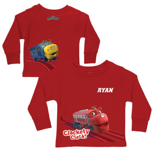 Chuggington Clackety Clack! Red Long Sleeve Tee