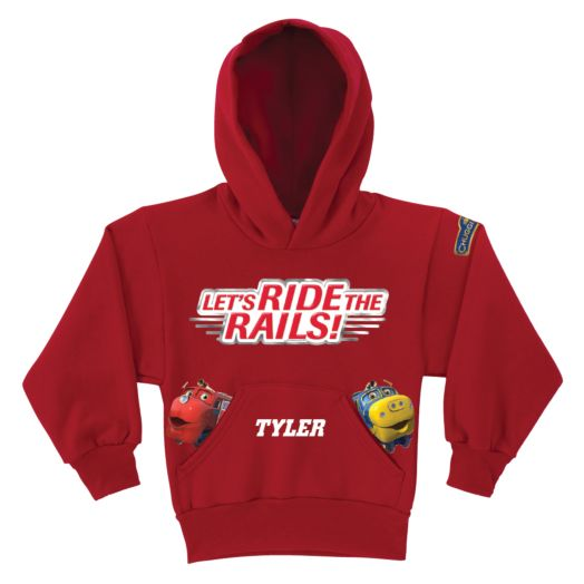 Chuggington Peeking Chuggers Red Youth Hoodie