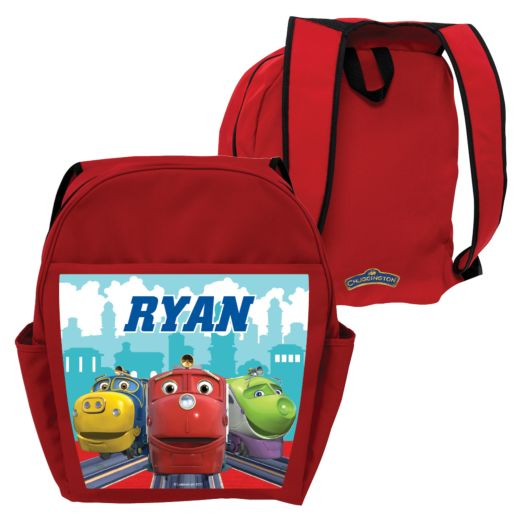 Chuggington Brewster, Wilson and Koko Red Toddler Backpack