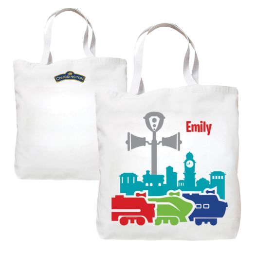 Chuggington Colored Silhouette Tote Bag
